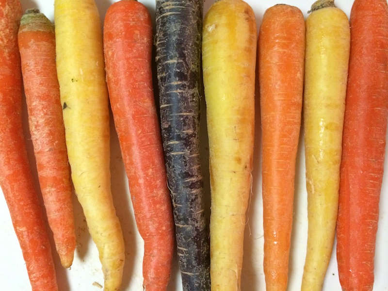 Types (Rainbow) of Carrots