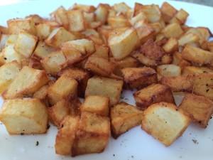 Breakfast hash browns potatoes